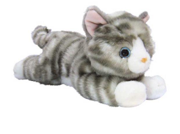 Мягкая игрушка Aurora Котенок серый 25 см кот серый  кошка серая