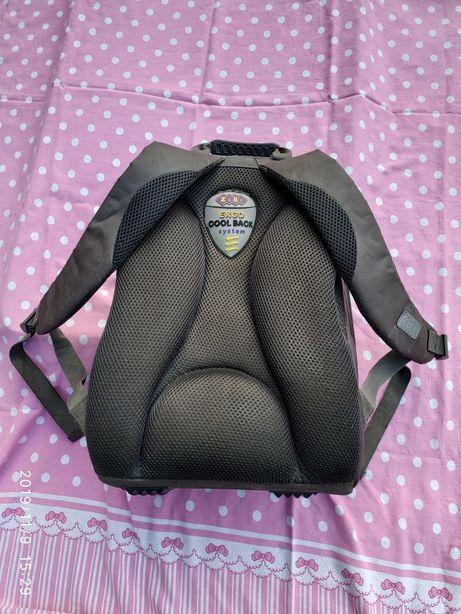 Ранец ортопедический, рюкзак школьный каркасный ZIBI с капюшоном