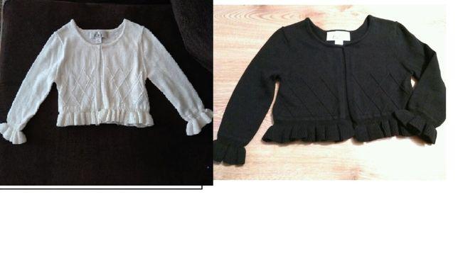 Sweterek, bolerko z USA. ekri 2T i czarny 3T, cena/2szt