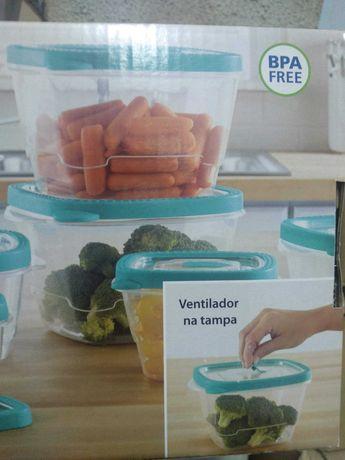 8 caixas herméticas frigorífico