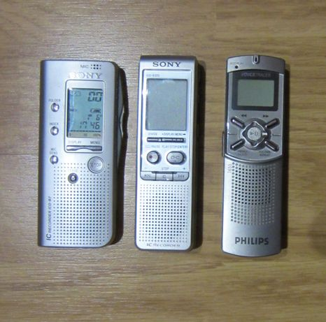 Conjunto Gravadores Sony ICD-B300, ICD-B7 + Philips VoiceTracer 7655
