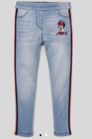 C&A 98 jak nowe jegginsy spodnie Myszka Minnie