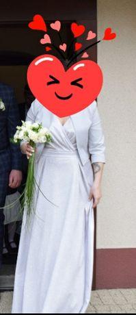Sukienka Maxi brokatowa