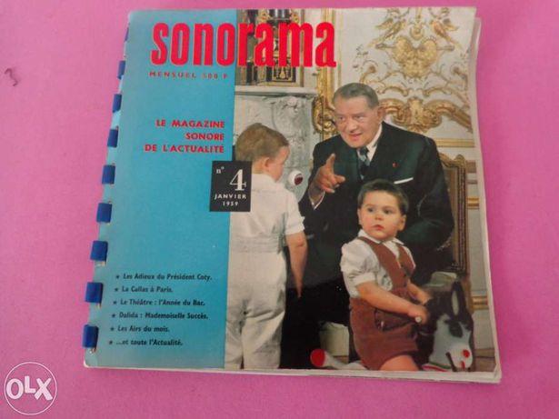 Revista musica ano 1959 com estratos musicais