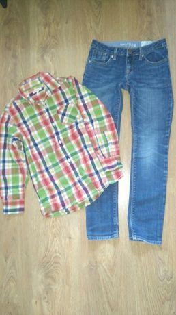 Spodnie gap,koszula bluezoo 8-9 lat