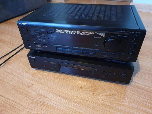 Amplituner Sony plus odtwarzacz cd