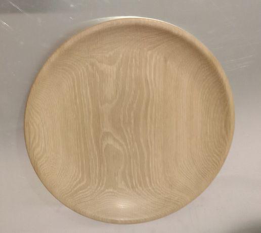 Блюдо деревянное тарелка тарілка  Дуб 25 см Оригинальный подарок