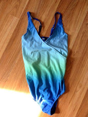 Kostium kąpielowy bikini strój niebieski ombre S