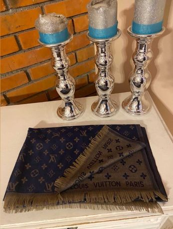 Szalik dwustronny Louis Vuitton /Chanel /Tommy Hilfiger