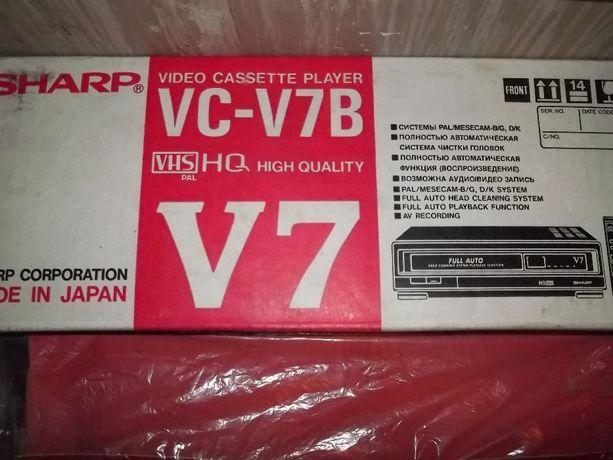 SHARP odtwarzacz video z funkcją nagrywania, magnetowid na kasety VHS