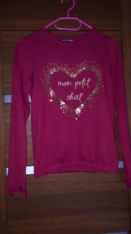 Bordowy bluzo-sweter