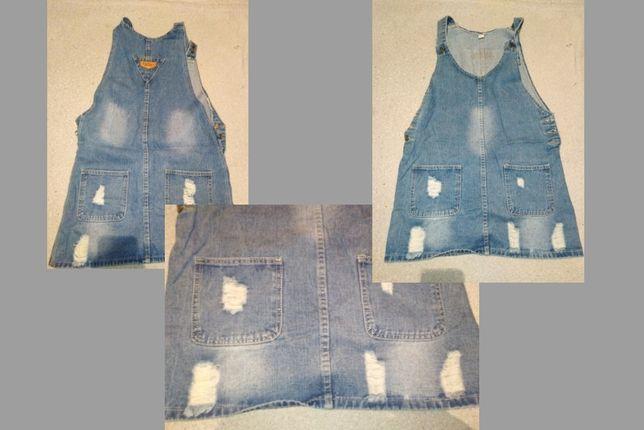 Можный джинсовый комбинезон