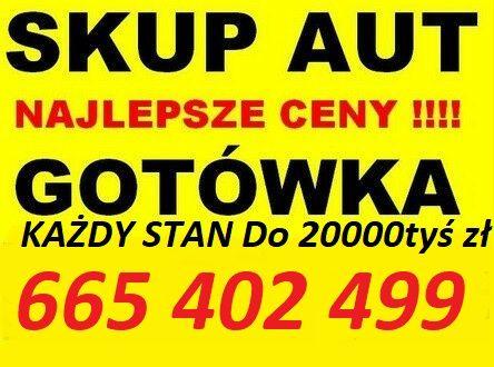 Skup Aut do 15000 tyś zł Kasacja Pojazdów Złomowanie Wysokie Ceny!!!
