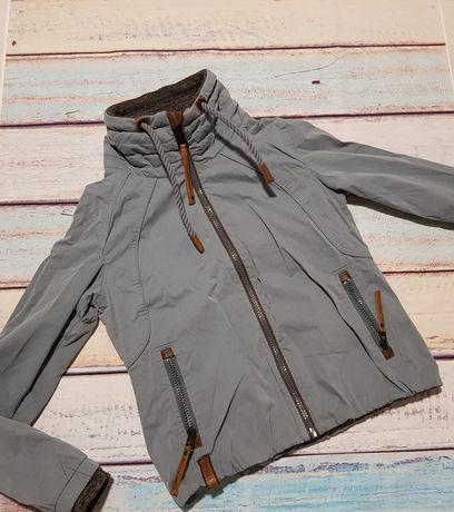 Naketano nowa świetna szaroniebieska krótka kurtka L