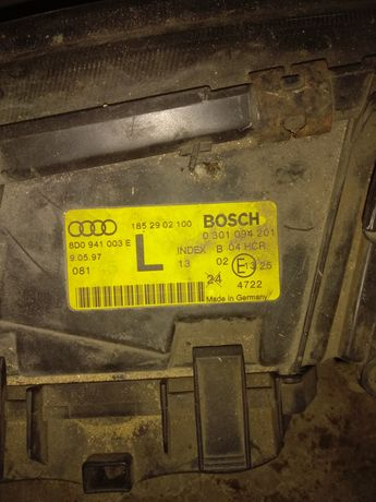 Lampy tył i 1 sztuka przednia L Audi A4 B5