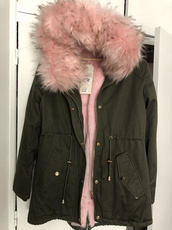 Blusão/ casaco pêlo rosa Novo