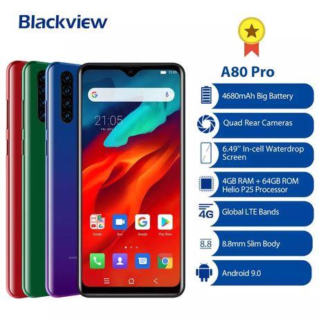 Blackview A80 Pro 4/64gb 4680mah 4G+ CDMA blue