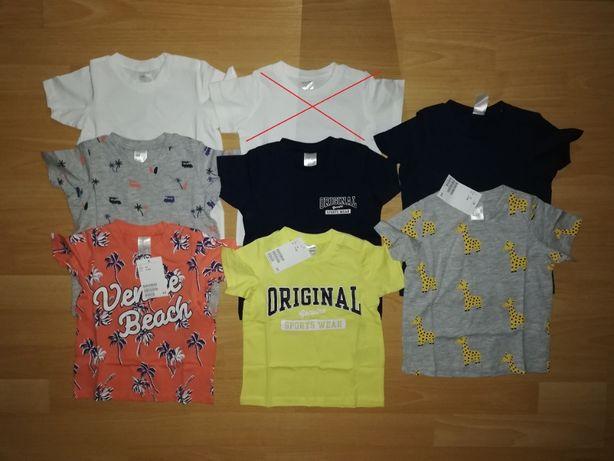 NOWE zestaw t-shirt 74 H&M koszulki krótki rękaw