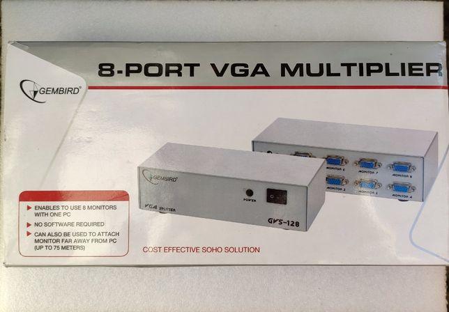 Разветвитель VGA 8 портов Gembird GVS128