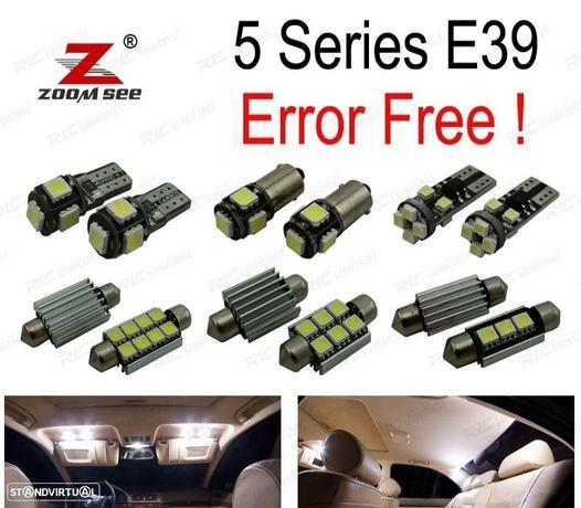 KIT COMPLETO DE 21 LÂMPADAS LED INTERIOR PARA BMW E39 5 SERIES 530D 525D 520D 520I 525I 528I 530I 5