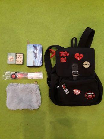 Plecak LC Wikiki+ portfel+ opaska świetlna + gratisy