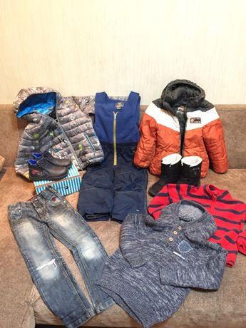 Пакет одежды обуви р.116 зима осень куртка комбинезо Reserved Sierra N