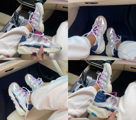 Кроссовки Adidas Niteball Off-White Cream White Pink Tint 36-45 Топ