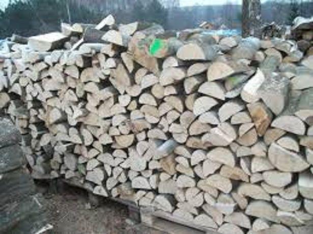 Połupane drewno kominkowe, sezonowane, bez próchna,