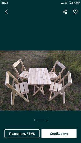Стол и стулья складные