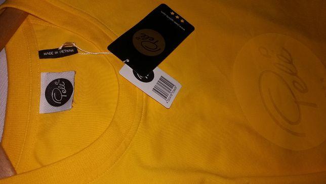 XL PELE żółty T-shirt