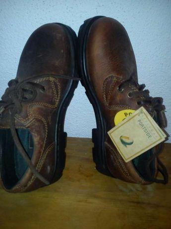 Portside Sapatos de pele, novos 35