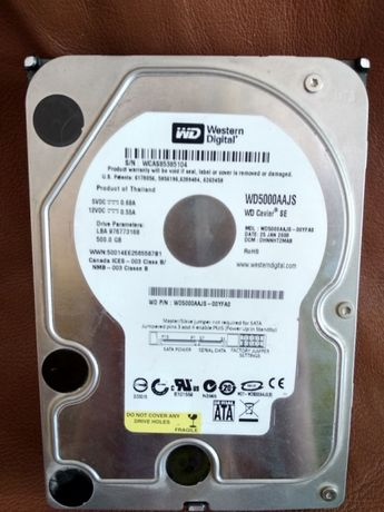 Жестки диск 500 Гб westrn didgital