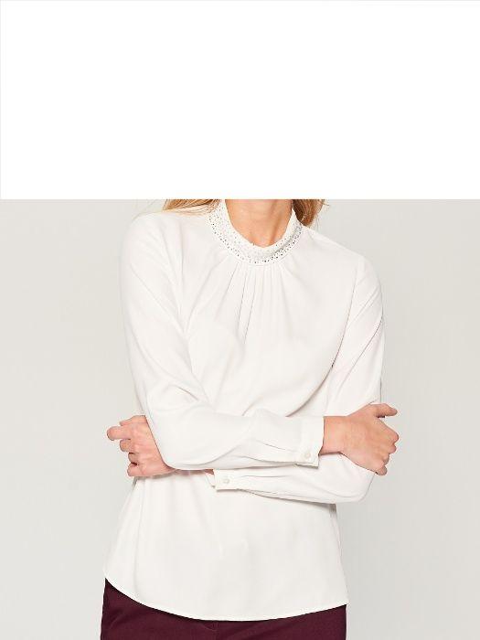MOHITO bluzka ze stójką koszula biała roz.36 S Myślenice - image 1