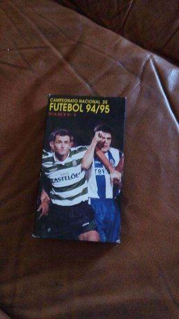 2 Cassetes VHS (I e II parte) campeonato nacional de futebol 94/95