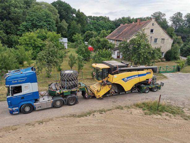 Transport kombajnów claas, new holland, John deere