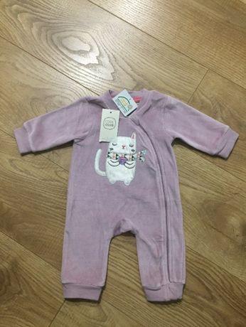 Nowy pajacyk niemowlęcy welurowy SMYK Cool Club