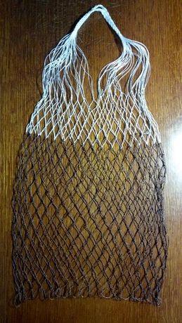 Авоська, плетена сумка для покупок, господарська сітка (ручна робота)