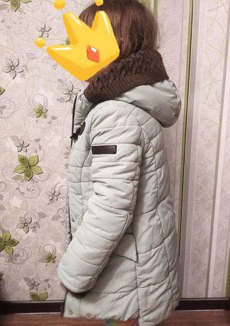 Детское зимнее пальто на девочку 110рр.