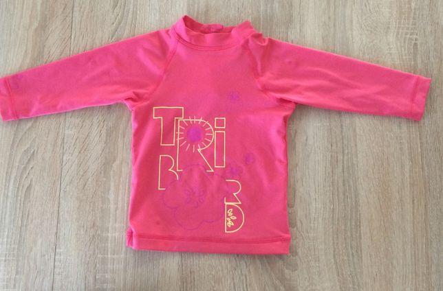 Różowa bluzeczka do wody kąpieli opalania Tribord UPF 50+ r. r. 80-86