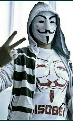 Маска анонимус,  гая фокса,  вендетта, аноним хакер оптом