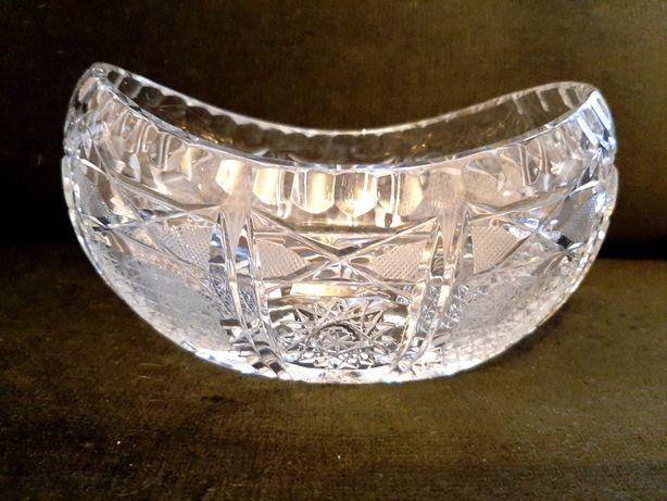 Salaterka kryształowa łódka
