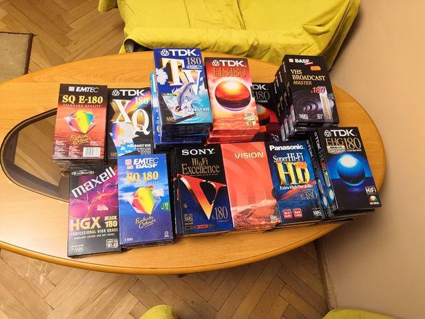 Kasety VHS 30/120/180/240/300 minut Sony Panasonic TDK BASF Emtec
