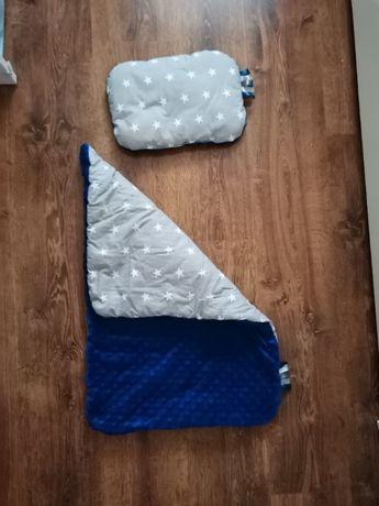zimowa kołdra dla niemowlaka do wózka i fotelika oraz prześcieradło