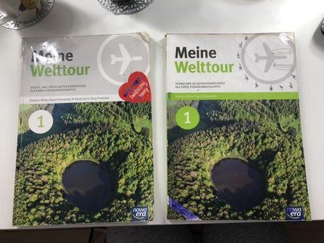 Podrecznik i ćwiczenia Meine Welttour używane j.niemiecki