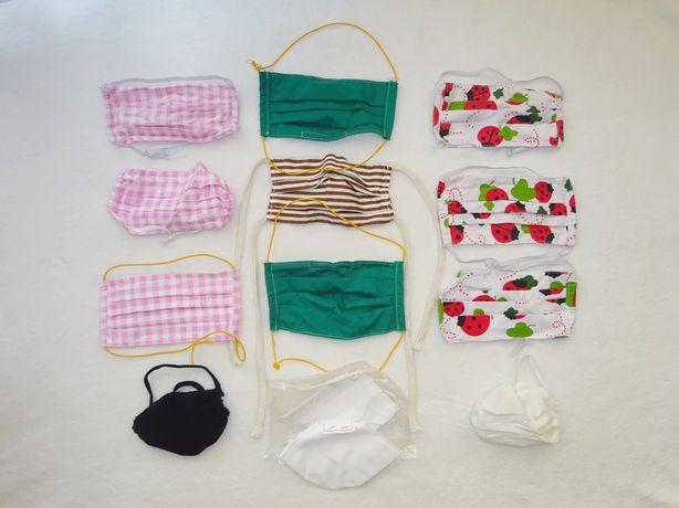 kolorowe maski maseczki ochronne bawełniane wielorazowe 13 szt.