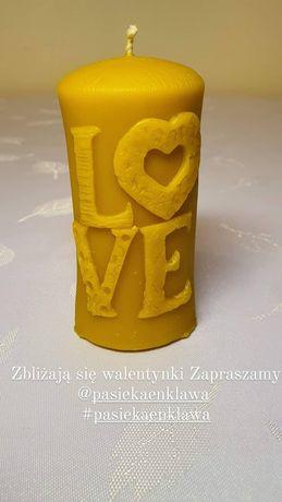 Walentynki Love świece prezenty miody  Pasieka Enklawa