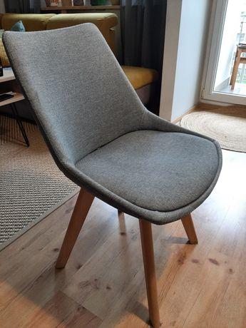 Szare krzesło/fotel  tapicerowane