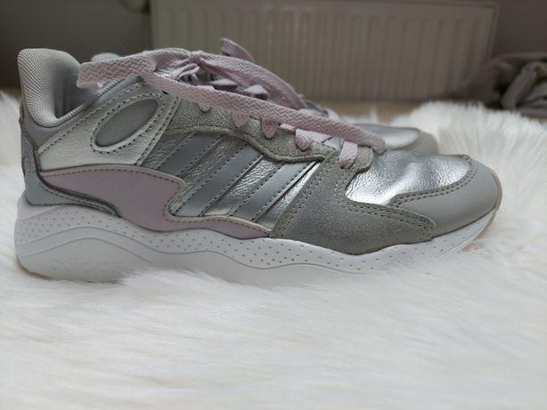 Buty adidas szaro srebrne