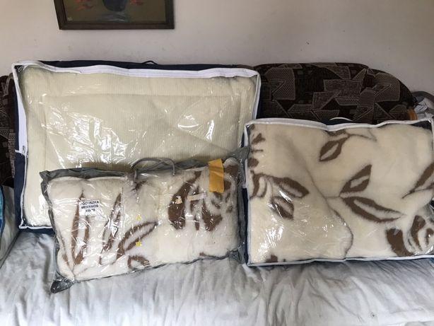 WOOLMARK merynos rehabilitacyjna kołdra poduszka wełna
