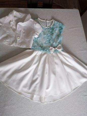 Sukienka+bolerko dla dziewczynki